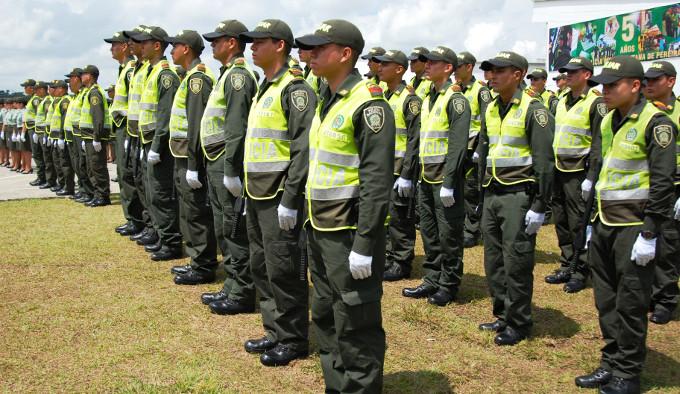 2015-08-27. CELEBRACION CUMPLEANOS DE LA POLICIA METROPOLITANA DE PEREIRA. PARADA POLICIAL. POLICIA NACIONAL.